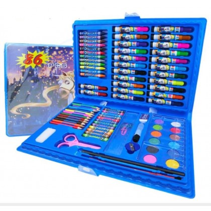 86 pcs Kids Painting Pen Crayon Drawing Art Set Colour Pencils with Storage Case - DT709