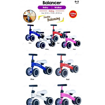 Children Balance Bikes Scooter Baby Walker Infant 1-3 years Scooter- White Toys for boys - DT710