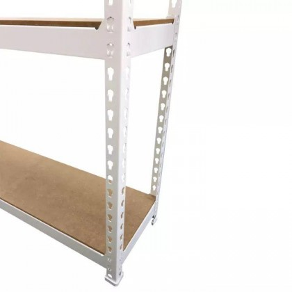 2 in 1 Boltless Rack White Shelving Storage Store Room Full Metal Rack (10kg) DT729