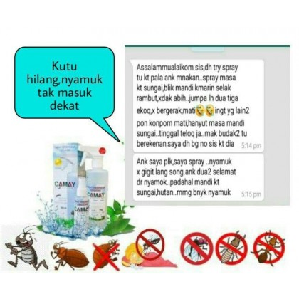CAMAY SPRAY SERANGGA ORGANIK 100ML -DT712