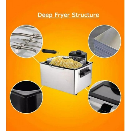 SOKANY 5L.ELECTRIC DEEP FRYER WITH 3 FRYING BASKET ( 4KG ) -DT713