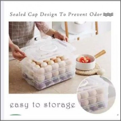 DOUBLE LAYER 40 GRIDS EGG STORAGE BOX - DT849
