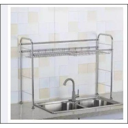 STAINLESS STEEL OVER SINK DISH RACK KITCHEN-DT867