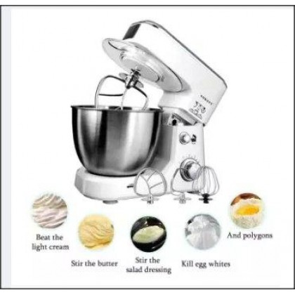 500W 4L Professional Kitchen Food Stand Mixer 6 speed Stainless steel Bowl Egg whisk-blender dough Mixer-Maker Machine-DT870