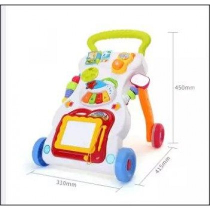 2 in 1 Multifunctional Baby Walker With Music and Educational Toy -DT878