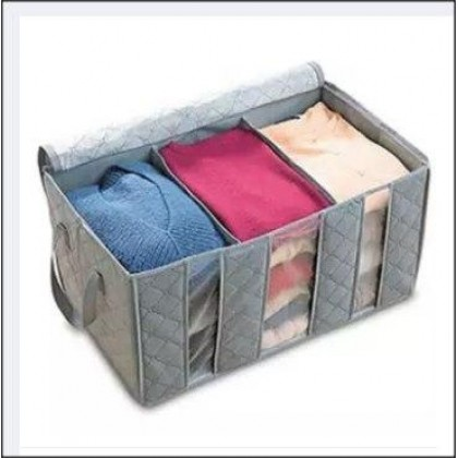 65L Bamboo Charcoal Clothes Storage Bag (Grey)-DT895