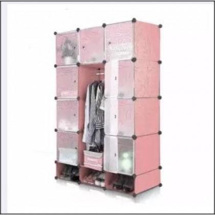 Magic 15 Cube Large Capacity Wardronbe With Shoe Cabinet-DT897