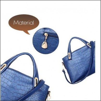 Elegant Faux Crocodile Leather Bags (Set of 3)-DT903