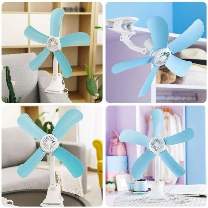5 Blade Silent Wall Mounted Bed Electric Mini Clip Fan 220V With Blade Plastic HJ500 -DT1078