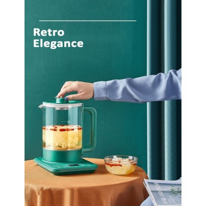 1.8L Household Electric Thickened Glass Flower Tea Pot Multifunction - DT1148