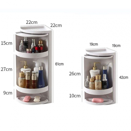 2/3 Layers Bathroom Waterproof Corner Storage Rack - DT1152