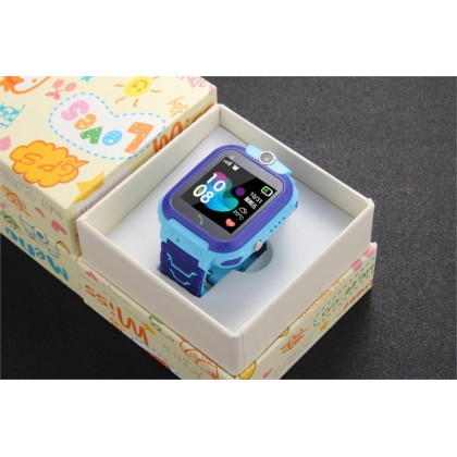 Q12 children's Smart Watch Positioning Call English Watch Kids Smart Watch Blue and Pink Color