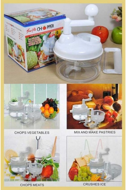 Multi-Function Vegetable Cutting Swift Chopper White Color DT166