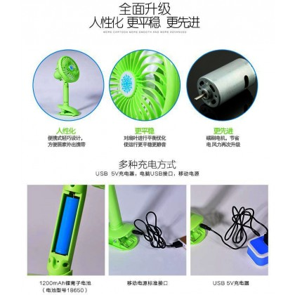 Free Angle Adjustment Mini Clip Fan With Rechargeable Battery