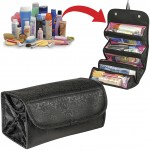Roll N Go Travel Cosmetic Bag Black Color