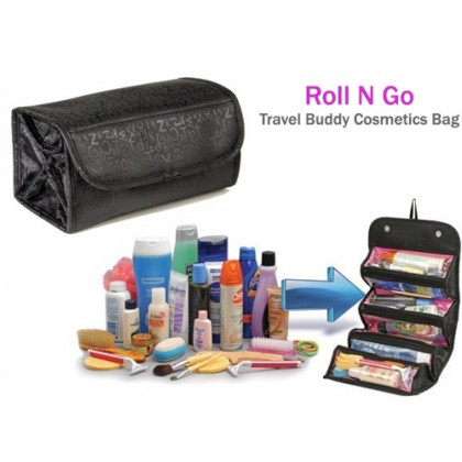 Roll N Go Travel Cosmetic Bag Black Color DT026