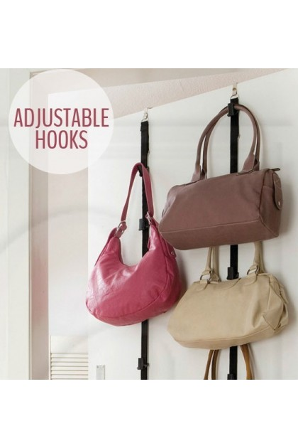 Bag Rack Over Door Straps Hanger Handbags Clothes Organizer DT027