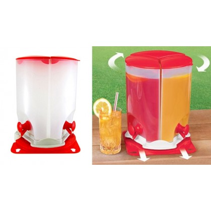 3 IN 1 3 COMPARTMENT ROTATE ROTATING SPIN JUICE DRINK DISPENSER DT044