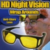 1 Pair Black and Gray HD Vision Wrap Arounds As Seen On TV
