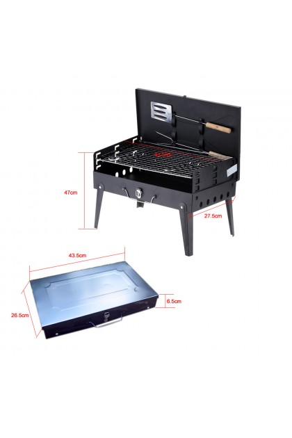 Folding BBQ Grill Adjustable Height Portable Garden barbecue DT052