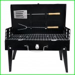 Folding BBQ Grill Adjustable Height Portable Garden barbecue