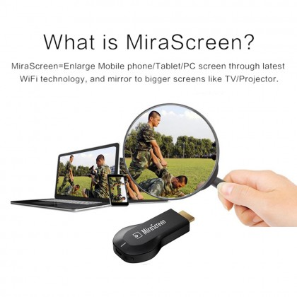 MiraScreen Dongle For Smartphone Android Wireless WiFi Mirroring Screen Device  DT330