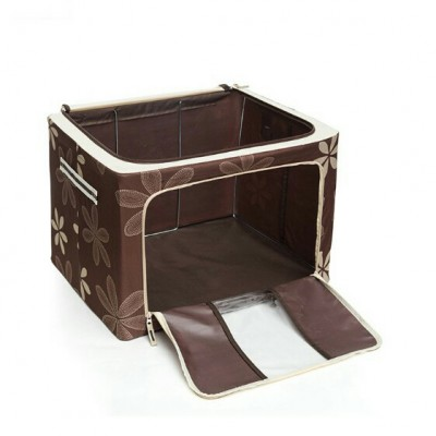Large Capacity Oxford box Foldable Storage Bag Steel Frame