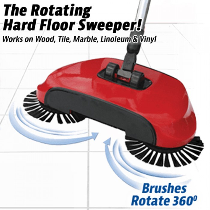 Automatic Rotation Spin Broom Floor Cleaning Stainless Steel Roller ...