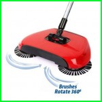 Automatic Rotation Spin Broom Floor Cleaning Stainless Steel Roller Mop Sweeper DT025