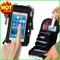 Touch Purse Universal Smartphone Case & Wallet Black Color