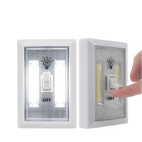 Mini COB LED Night Light Lamp Switch Super Bright Wall Light With Magnetic
