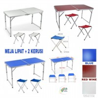 Portable Foldable Aluminium Table 2x FREE picnic Chair