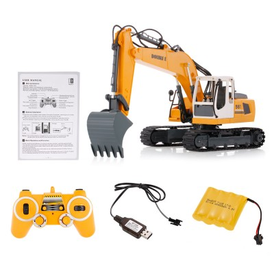 Double E E561-001 17 Channel Metal Remote Control RC Excavator Scale 1:16
