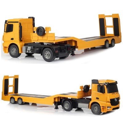 Double E RC Truck 1:20 Scale 2.4G Flatbed Semi-Trailer Engineering Remote Control Diecast Model