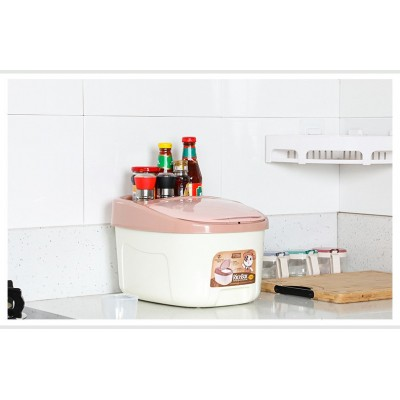 Rice Box Kitchen Storage Container with Wheels and Lid DT439