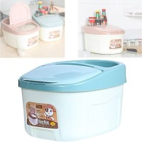 Rice Box Kitchen Storage Container with Wheels and Lid