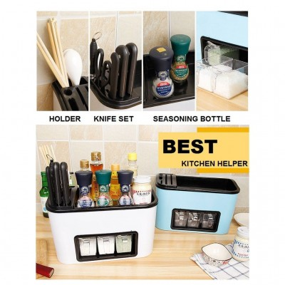 Multipurpose Seasoning Rack with Knife Kitchen Rack and Holder
