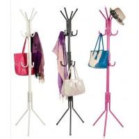 12 Hooks Hanging Pole for Hat Clothes Jacket Umbrella and Handbag - DT461