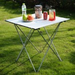 Ultralight Super Compact Foldable Aluminium Outdoor Camping Table Picnic Table L Size With Carrying Bag (Can Fit in Backpack) 1.3kg - DT448