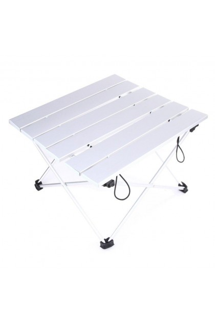 Ultralight Super Compact Foldable Aluminium Outdoor Camping Table Picnic Table L Size With Carrying Bag (Can Fit in Backpack)  - DT448