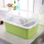 Dishes Drainer with Cover Extra Large Size Kitchen Storage Rack (2KG) - DT440