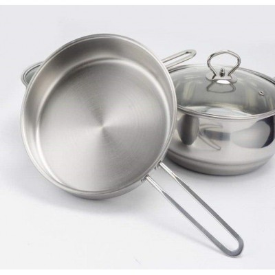 STAINLESS STEEL COOKING POT 3 IN 1 (4.5KG) - DT422