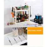 2 Tiers Thicken Seasoning and Kitchen Organizer Rack- White (1.2kg) - DT426