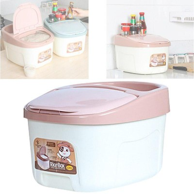 12kg Rice Box Kitchen Storage Container with Wheels and Lid - DT439