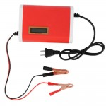 12V 6A Portable Car Motorcycle Lead Acid Battery Charger LCD Display - DT334