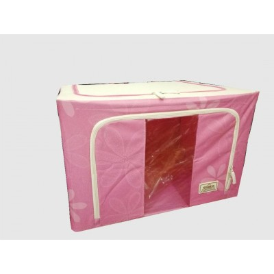 LARGE CAPACITY OXFORD BOX FOLDABLE STORAGE BAG STEEL FRAME - DT357