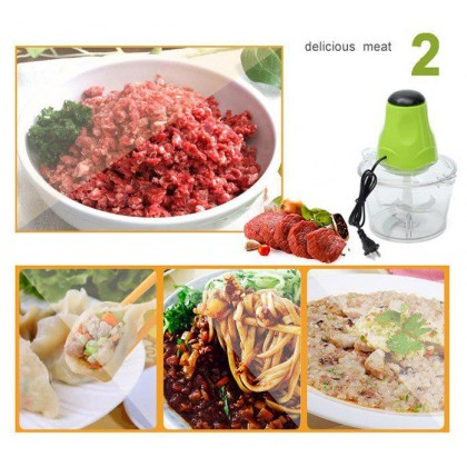 Electric Mini Blender and Chopper 1.2L Bowl Meat Mincer - DT142