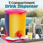 3 compartment drink dispenser - DT044