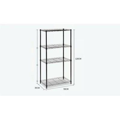 4 Tiers Compartment Corner Stand Steel Rack (4kg)-DT485