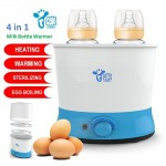 Baby 4 in 1 Baby Double Milk Bottle Warmer thermostat Sterilizer BPA Free 1kg-DT486